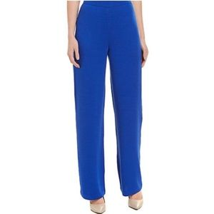 St John blue Milano knit pants